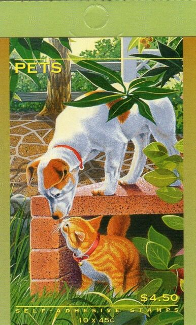 1996 AUSTRALIAN STAMP BOOKLET PETS 10 x 45c STAMPS MUH