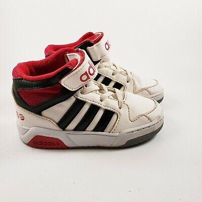 Adidas Neo Boys Size 7 BB9TIS White Scarlet Solar Red Mid INF Toddler Shoes | eBay