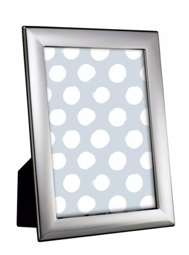 "STERLING SILVER PHOTO FRAME 10 X 8"" PLAIN BLACK WOOD BACK"