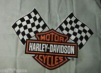 Lot Of 2 Harley Davidson Fabric Panels 18x23 Each
