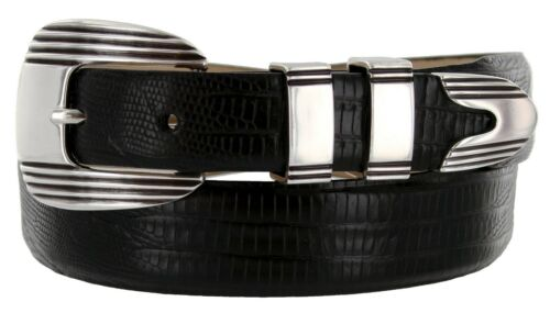 "Italian Calfskin Genuine Leather Designer Dress Belt 1-1//8/"" to 1/"" Wide Stanley"