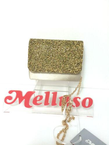 elegante satijnen Made ketting beige In met Italy goud tas Melluso MzpUVS