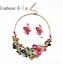 Women-Fashion-Bib-Choker-Chunk-Crystal-Statement-Necklace-Wedding-Jewelry-Set thumbnail 13