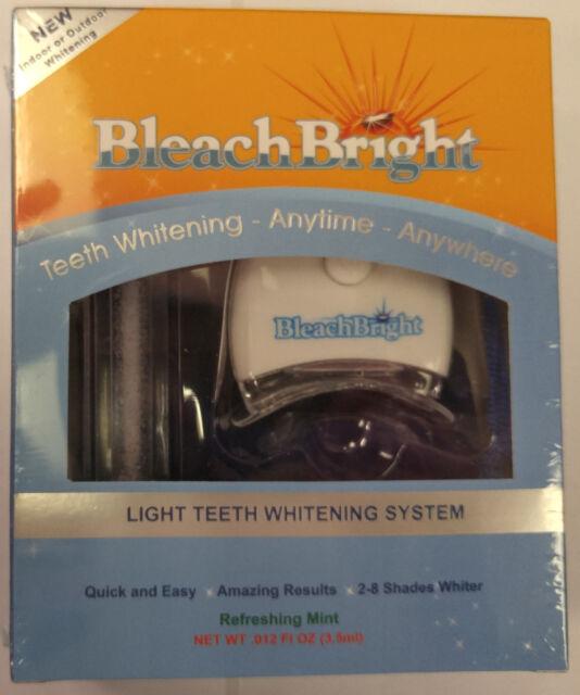 BLEACH BRIGHT BLEACHBRIGHT TEETH WHITENING WHITENER SYSTEM KIT UV LIGHT TANNING
