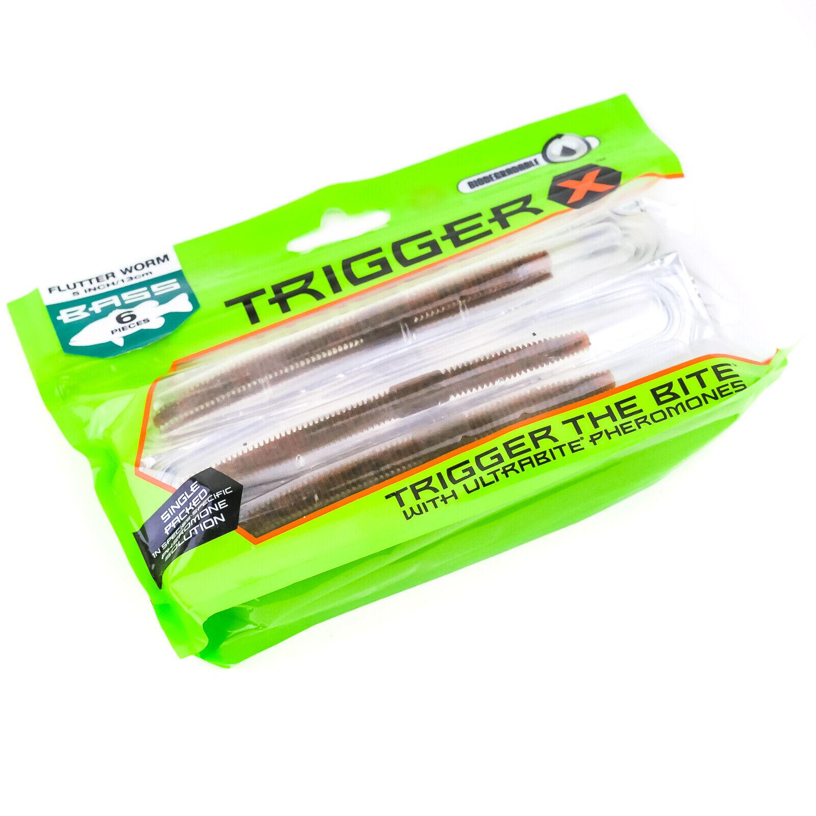 "TRIGGER X 4/"" Discontinued Flutter Worm Choose Color"
