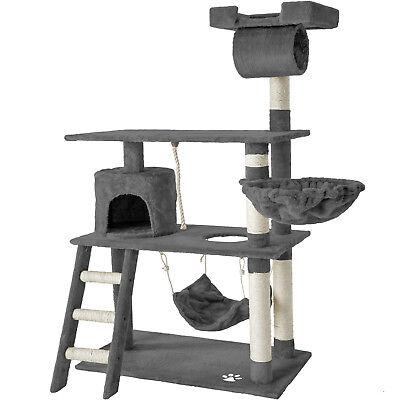 Rascador para gatos Árbol para gatos Sisal Juguetes Casa Hamaca 141cm NUEVO