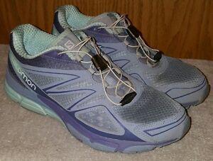 Salomon Womens X Scream 3D Running Shoe Light Blue Size 10 EUC  b723780af5