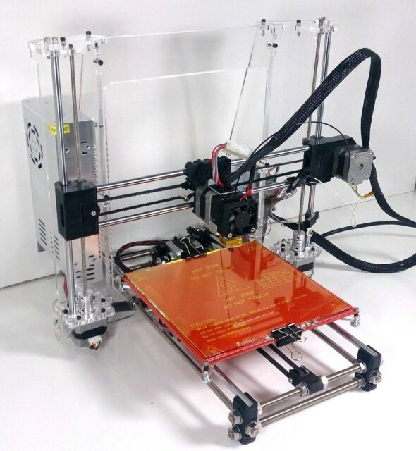 Folger Tech Prusa i3 RepRap Full 3D Printer Kit w/ Clear Acrylic Frame