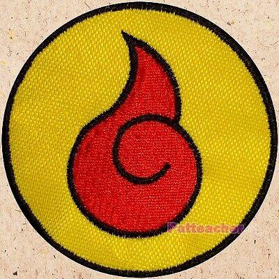 Naruto Red Spiral Logo Patch Ninja Jacket Suit Uzumaki Manga Anime Embroidered