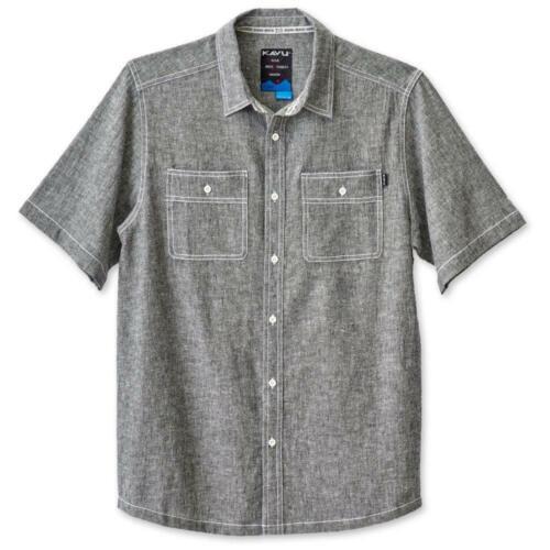 Large KAVU Men/'s Jacksonville Button Down Shirts Black Smoke