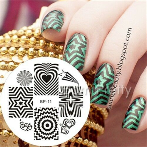 Nagel Schablone BORN PRETTY Nail Art Stamp Stamping Template Plates 11