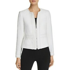 New-Karl-Lagerfeld-Embroidered-Tweed-Jacket-in-Soft-White-Workwear-Zip-Size-14