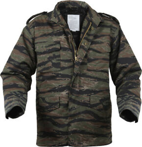 Tiger-Stripe-Camouflage-Military-Vietnam-M-65-Field-Coat-Army-M65-Jacket