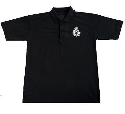 Black Rat polo shirt Met Police  Traffic Police Birthday gift present
