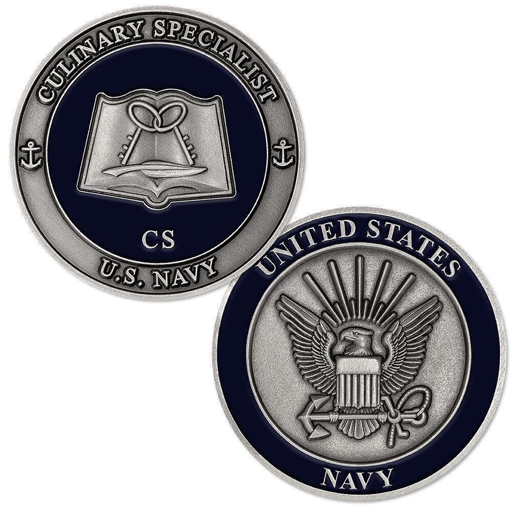 New U S Navy Culinary Specialist Cs Challenge Coin Ebay
