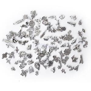 100± Bulk Mixed Tibetan Silver Alloy Charm Pendants Beads DIY Jewelry Findings