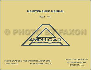1961 1967 amphicar factory repair shop manual service maintenance rh ebay com Light Switch Wiring Diagram Light Switch Wiring Diagram