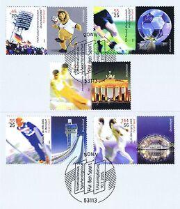 BRD-2005-Sporthilfemarken-Nr-2439-2443-mit-Bonner-Ersttagsstempeln-1A-1703