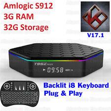 T95Z Plus S912 3GB+32GB Octa Core Android 6.0 TV Box KODI 17 Dual WIFI, i8