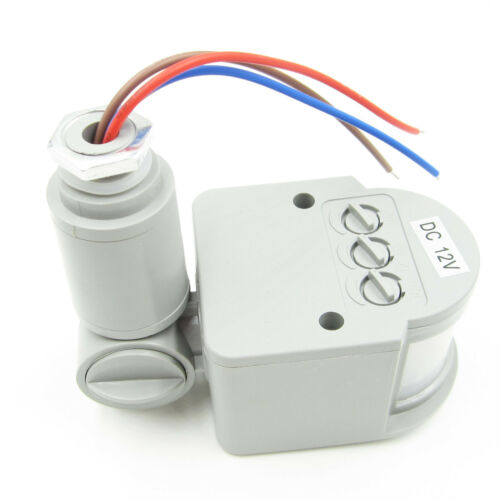 12M PIR Infrared Outdoor Motion Sensor Wall Detector LED Security Light RF 140°