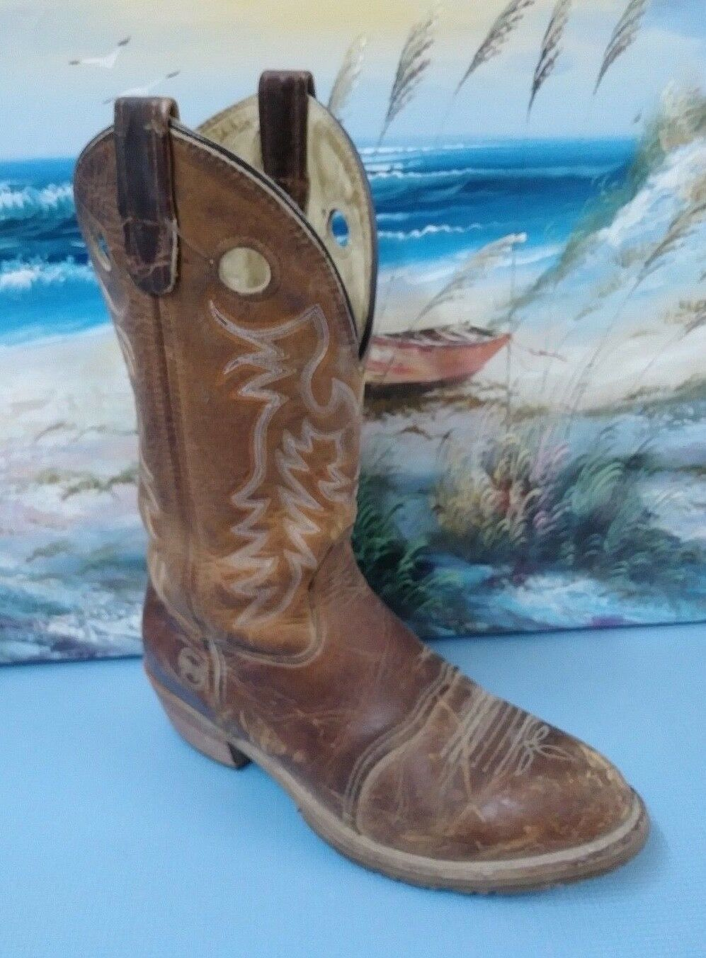 Womens Double-H USA DH5159 Buckaroo 12  Cowboy WESTERN Boot 10 M BROWN LEATHER