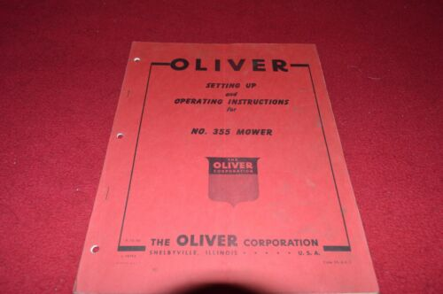 Oliver White Tractor 355 Mower Operator/'s Manual BVPA