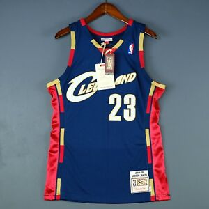 official photos 52ce7 79958 100% Authentic Lebron James Mitchell Ness 08 09 Cavaliers ...
