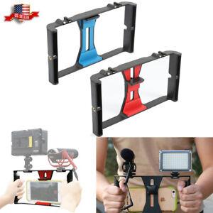 Video-Camera-Cage-Stabilizer-Mount-Holder-Handheld-Frame-Film-Rig-Vlog-Phone