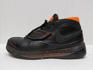 NIKE SHOES AIR FORCE MAX STAT Men's Black & Orange Basketball SIZE 10