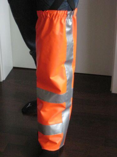 Beinschutz für Motorsense Rasentrimmer in Warnfarbe Kommunen Forst NEU 13.003