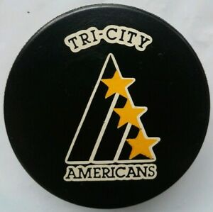 TRI-CITY-AMERICANS-WHL-OFFICIAL-GAME-PUCK-INGLASCO-MFG-CANADA-HOCKEY-VINTAGE