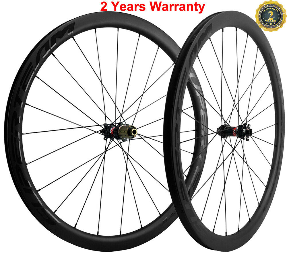Disc Brake Carbon Wheels Road Bike Cycle Wheelset 40mm  25mm Novatec 411-412 Hub  exclusive