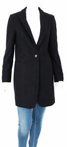 Bottoni Donna Lana Trench Jacket Jeans Cappotto Blazer Kaos Misto Nero Black v4Cw0Sq