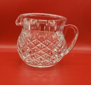 Vintage-Lead-Crystal-Pitcher-Diamond-Pattern-Sunburst-Bottom