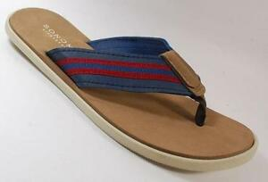 NEW-Men-039-s-SONOMA-THORN-NAVY-BLUE-Fashion-Comfort-Thongs-Flip-Flops-Sandals-Shoes