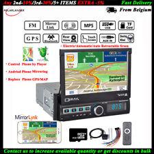 "7/""1DIN GPS radio de coche de pantalla táctil Cámara 8gTF USB FM Estéreo Eq Bluetooth AUX MP5"