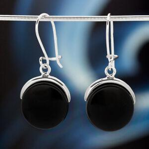 Onyx-Silber-925-Ohrringe-Damen-Schmuck-Sterlingsilber-H0504