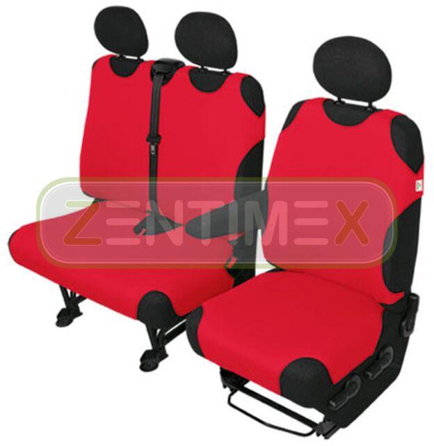 Rot LKW für DAF EURO 6 XF 2014+ 2 x Sitzbezüge Schonbezüge Bezüge Schwarz