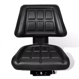 Lawn-Tractor-Seat-Garden-Riding-Mower-With-Backrest-Steel-PVC-Adjustable-Black