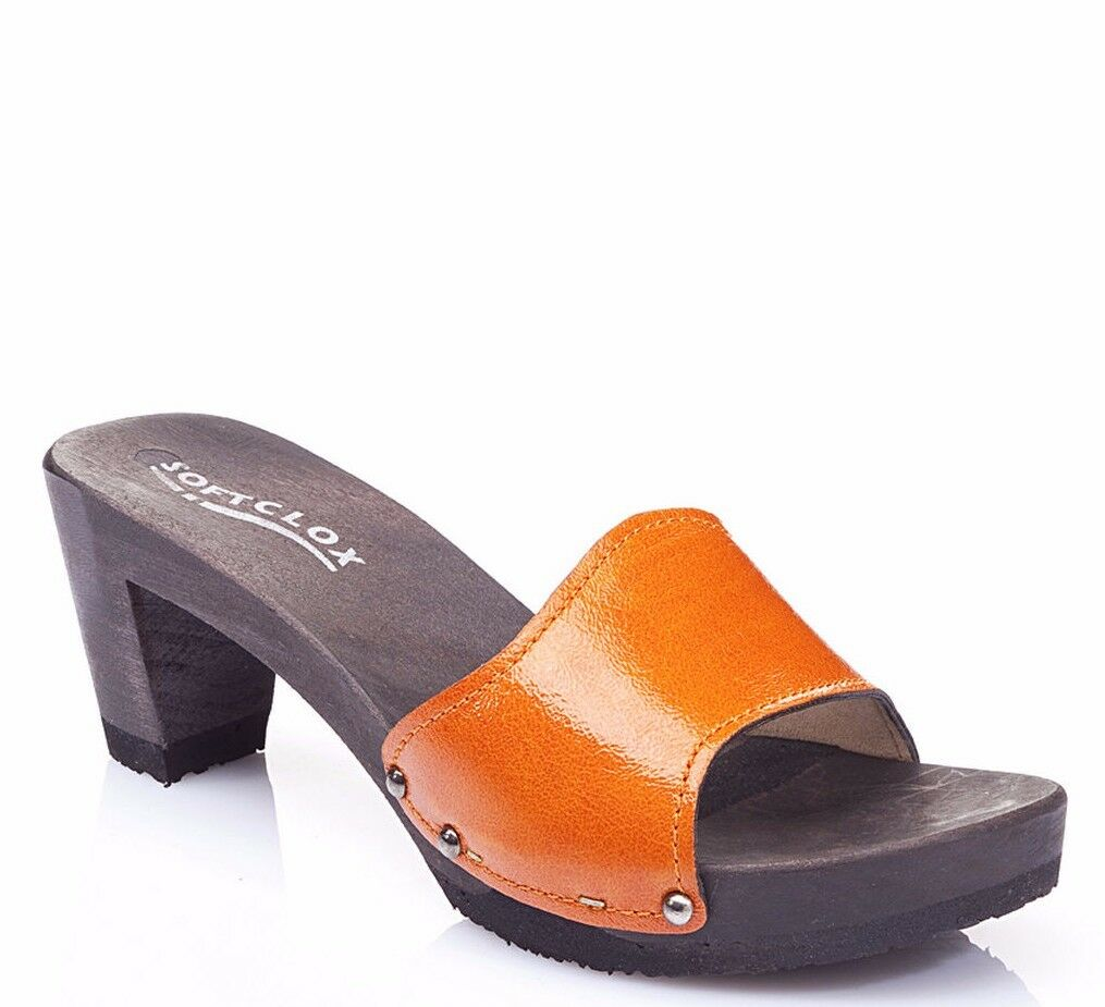 Softclox monika silklack papaya retro naranja 38 39 40 41 42 nuevo