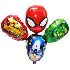 Marvel-Avengers-Hulk-Iron-Man-Captain-4-Balloons-Cartoon-helium-party-birthday