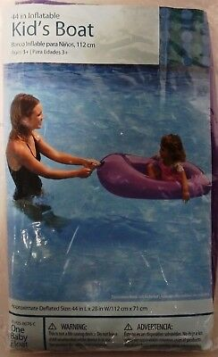 44 Inch Purple Baby Float New Expressive Inflatable Kid's Boat Pools & Spas