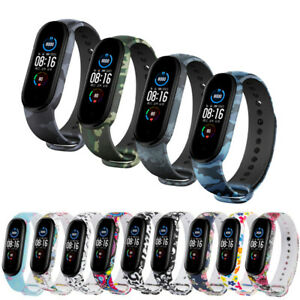For Xiaomi Mi Band 5 Silicone Wrist Strap Bracelet Replacement Watch Band