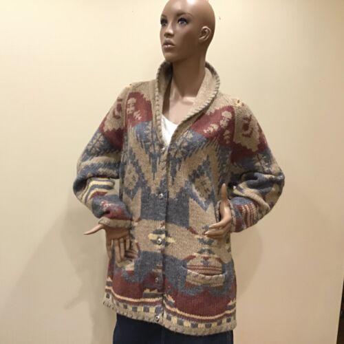 L Woolrich Woman's Jacket Wool Southwestern Indian