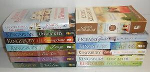 Lot-Of-13-Karen-Kingsbury-Christian-Romance-Drama-Books-Bailey-Flanigan-Baxter