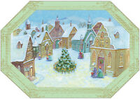 Village Die Cut Edges Box Of 18 Christmas Cards By Designer Greetings