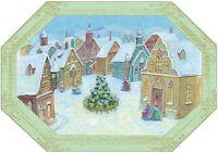 Village Die Cut Edges Box Of 18 Christmas Cards By Designer Greetings