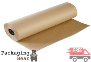 4 Rolls x 750mm x 225M STRONG BROWN KRAFT WRAPPING PACKAGING POSTAL PAPER 88gsm