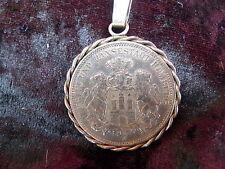 schöne,alte Münze__3 Mark__Hansestadt Hamburg __1909__Medaillon__Anhänger !