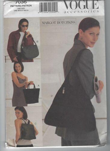 7036 Vogue Accessories Sewing Pattern Handbags